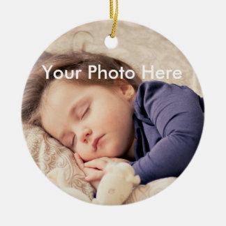 Ornement personnalisé de Noël de photo
