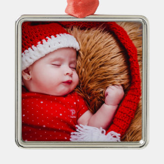 Ornement personnalisé de Noël de photo de bébé