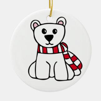 Ornement personnalisé de Noël - ours blanc