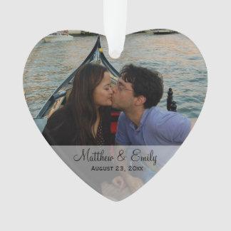 Ornement personnalisé de photo de couples