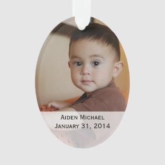 Ornement personnalisé de photos de bébé