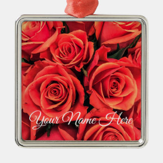 Ornement personnalisé de roses