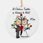 Ornement personnalisé ęr par Noël de couples de