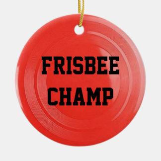 Ornement personnalisé par amant de frisbee