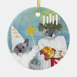 Ornement personnalisé par Lucia de Père Noël des