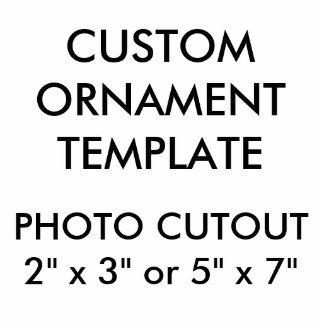 """Ornement Photo Sculpture Coutume 5"""" x 7"""" ornement de Noël de coupe-circuit"""