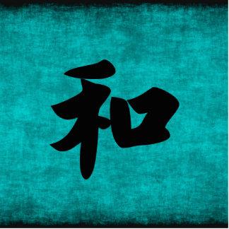 Ornement Photo Sculpture Harmonie dans la peinture bleue de caractère