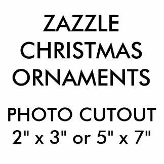Ornement Photo Sculpture Ornement accrochant de photo de Noël fait sur