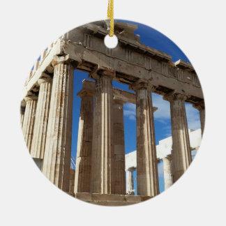 Ornement pittoresque de cercle de Noël d'Athènes