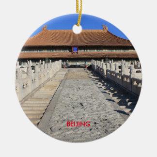 Ornement pittoresque de cercle de Noël de Pékin