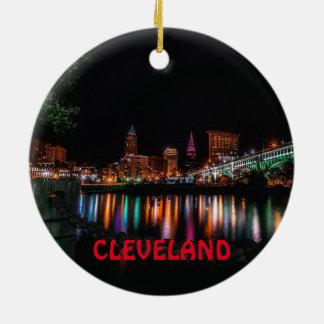 Ornement pittoresque de Noël de Cleveland