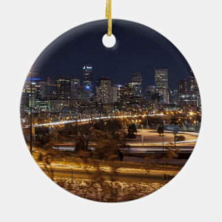 Ornement pittoresque de Noël de Denver le Colorado
