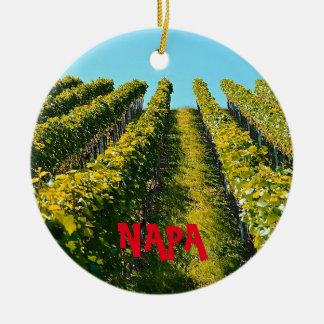 Ornement pittoresque de Noël de Napa Valley