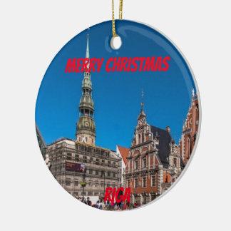 Ornement pittoresque de Riga Lettonie