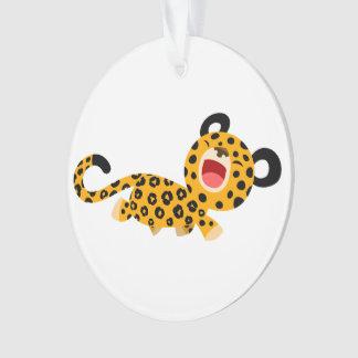Ornement plaisant d'acrylique de léopard de bande