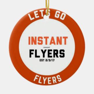 Ornement plat de cercle d'Instant_Flyers