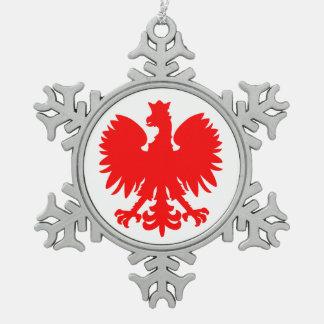 Ornement polonais d'étain d'Eagle