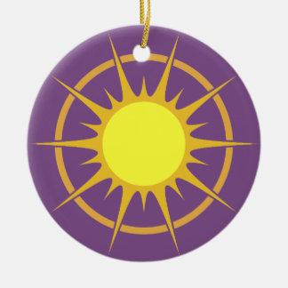 Ornement pourpre de cercle avec le Sun