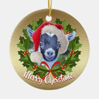 Ornement pygméen de Noël de casquette de Père Noël