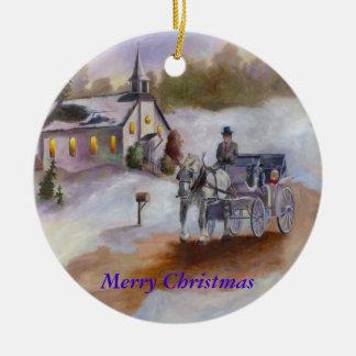 Ornement rêveur de Noël d'hivers