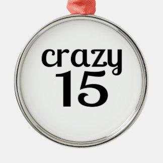 Ornement Rond Argenté 15 conceptions folles d'anniversaire