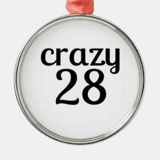 """Ornement Rond Argenté """"27 ans""""birthda de """"de vitesse 27"""
