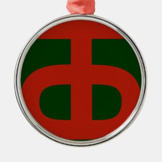 Ornement Rond Argenté 90th Infantry Division