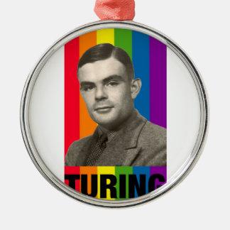 Ornement Rond Argenté Alan Turing