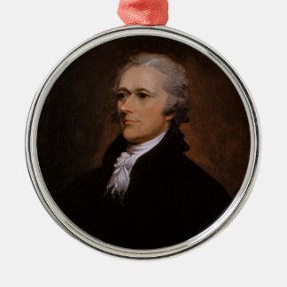 Ornement Rond Argenté Alexander Hamilton