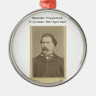 Ornement Rond Argenté Alexandre Dreyschock