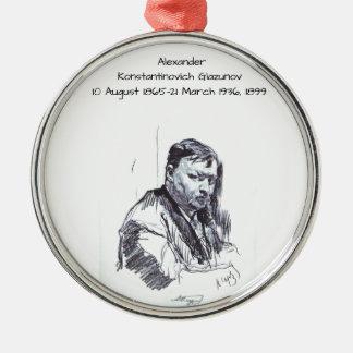 Ornement Rond Argenté Alexandre Konstantinovich Glazunov 1899