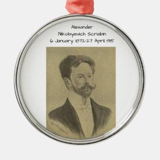 Ornement Rond Argenté Alexandre Nikolayevich Scriabin