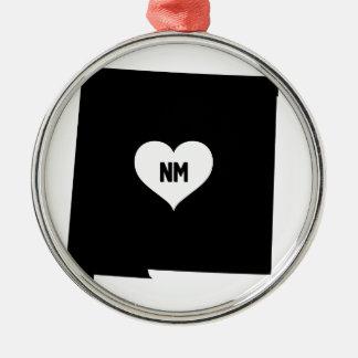 Ornement Rond Argenté Amour du Nouveau Mexique