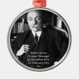 Ornement Rond Argenté André Charles prospèrent Messager 1921