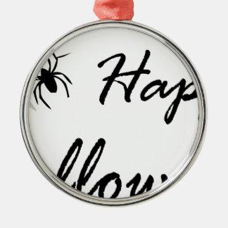 Ornement Rond Argenté araignée et Web