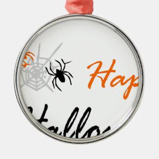 Ornement Rond Argenté araignée et web2