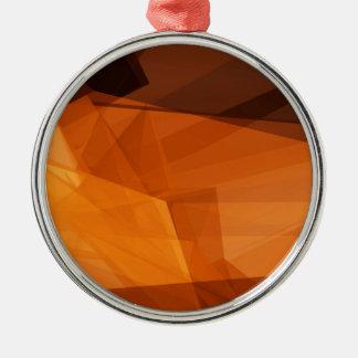 Ornement Rond Argenté Arrière - plan abstrait d'orange pour la