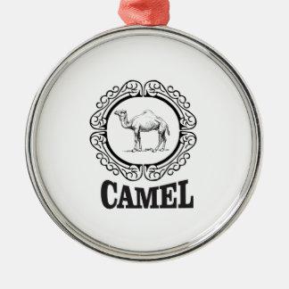 Ornement Rond Argenté art de logo de chameau