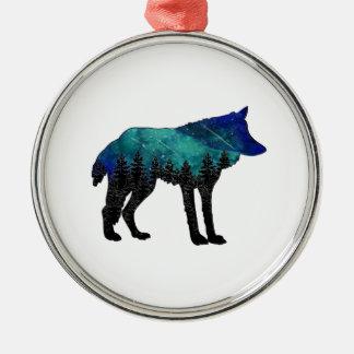 Ornement Rond Argenté Asile de loup