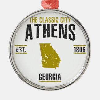 Ornement Rond Argenté Athènes