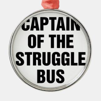 Ornement Rond Argenté Autobus de lutte