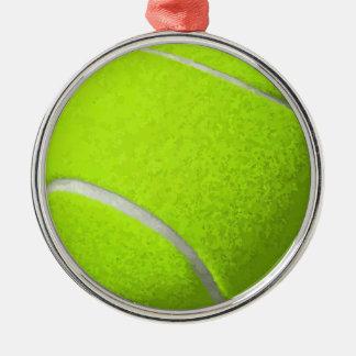 Ornement Rond Argenté Balle de tennis