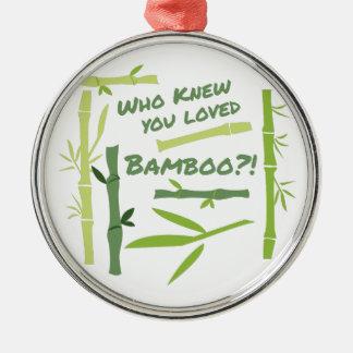 Ornement Rond Argenté Bambou aimé