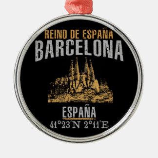 Ornement Rond Argenté Barcelone