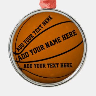 Ornement Rond Argenté Basket-ball