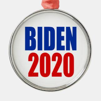 """ORNEMENT ROND ARGENTÉ """"BIDEN 2020 """""""