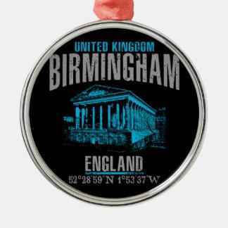 Ornement Rond Argenté Birmingham