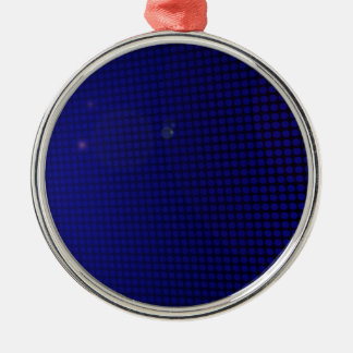 Ornement Rond Argenté blue halo