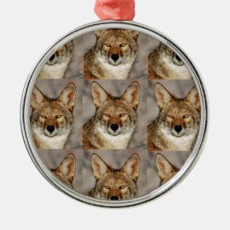 Ornement Rond Argenté boîtes de coyotes