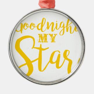 Ornement Rond Argenté Bonne nuit mon étoile